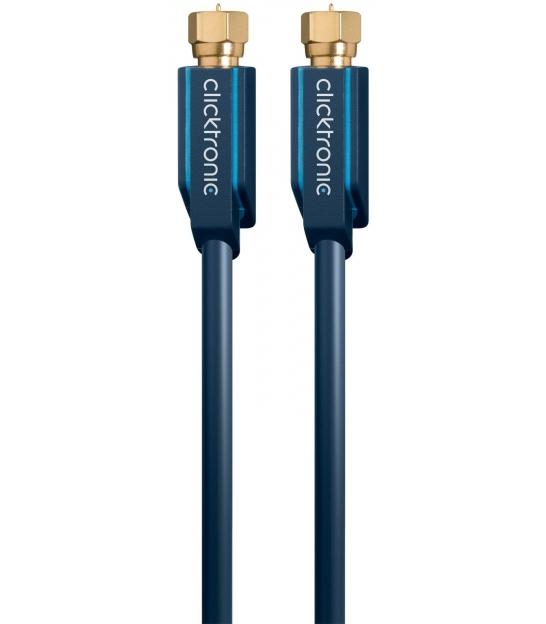 Kabel antenowy F wtyk / F wtyk 1m Clicktronic