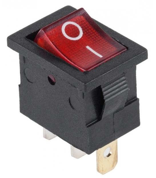 Przełącznik podświetlany MK1011 12V czerwony