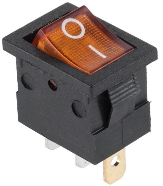 Złącze przełącznik 230V podświetlany MK1011 żółty