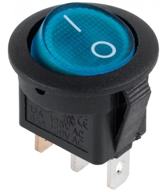 Złącze przełącznik 230V podświetlany niebieski