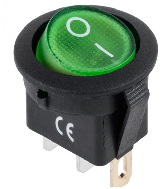 Przełącznik IRS-101-8C/D zielony 12V