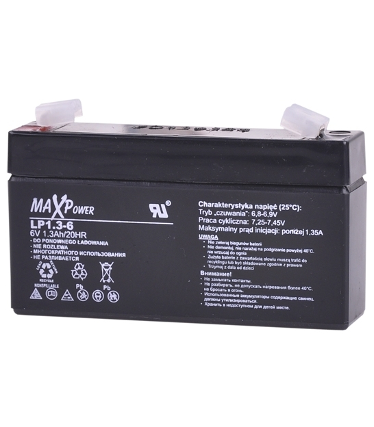 Akumulator żelowy 6V 1.3Ah MaxPower