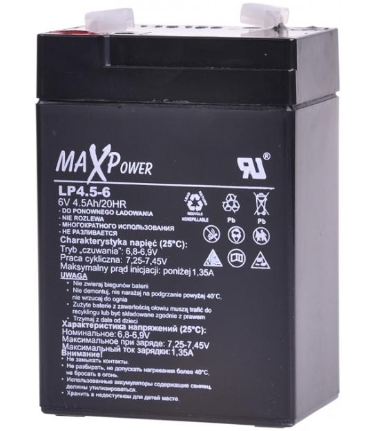 Akumulator żelowy 6V 4.5Ah MaxPower