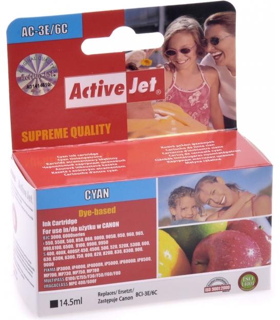 Tusz ActiveJet do Canon BCI-3E cyan