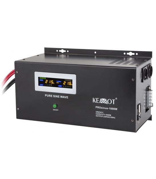 Zasilacz awaryjny UPS KEMOT PRO SINUS-1600W czarny