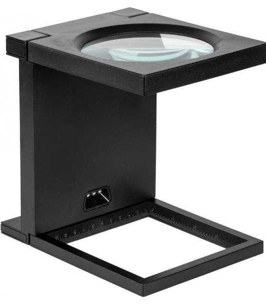 Lupa stojąca składana 108mm/2.5D oświetlenie 3xLED/312079/