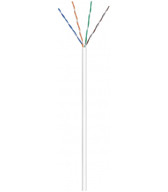 Kabel instalacyjny (linka) CAT 6 U/UTP CCA 100m biały