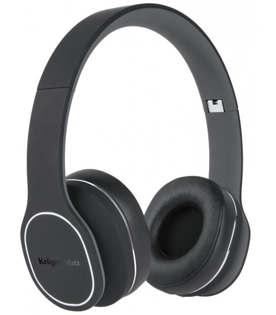 Bezprzewodowe słuchawki nauszne Kruger&Matz Soul 2 Wireless, czarne