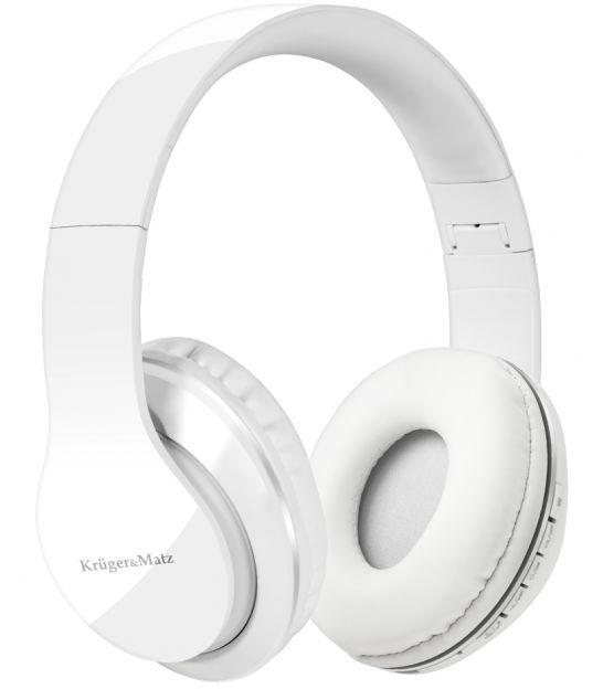 Bezprzewodowe słuchawki nauszne Kruger&Matz model Street BT, kolor biały