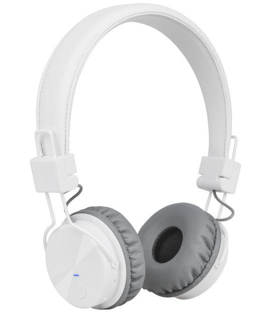 Bezprzewodowe słuchawki nauszne Kruger&Matz model Wave BT, kolor biały