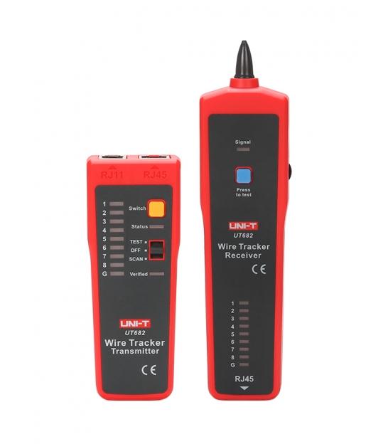 Miernik - szukacz par przewodów z testerem kabli RJ-45 Uni-T UT682