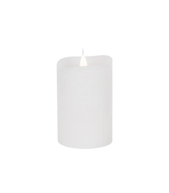 Świeca woskowa LED mała rustic white