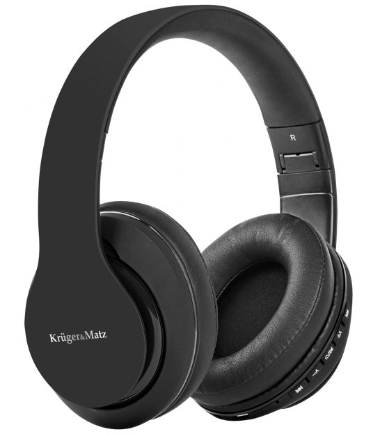 Bezprzewodowe słuchawki nauszne Kruger&Matz model Street 2 Wireless, kolor czarny