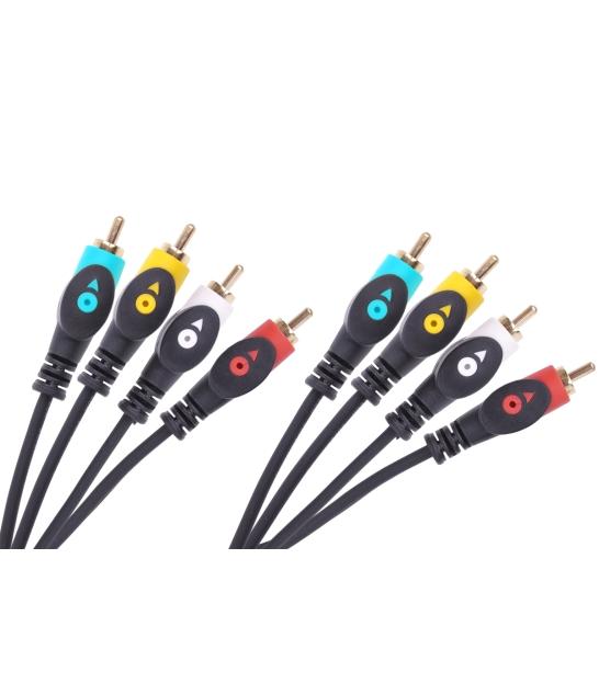 Kabel 4RCA-4RCA 3m Cabletech economic