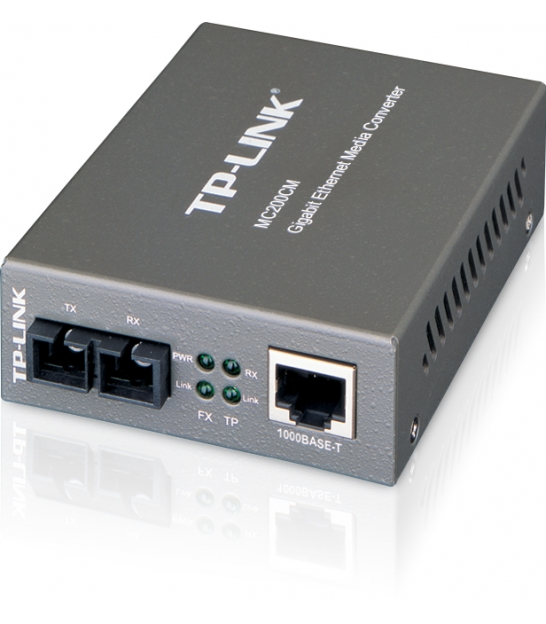 TP-LINK MC 200CM Konwerter światłowodowy 1000Mbps RJ45/SC, do 550m