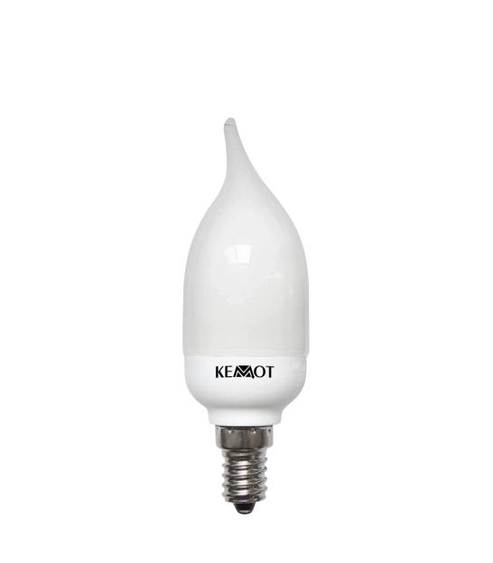 Kompaktowa lampa fluorescencyjna świeca (z ogonkiem) E14, 7W 2700K