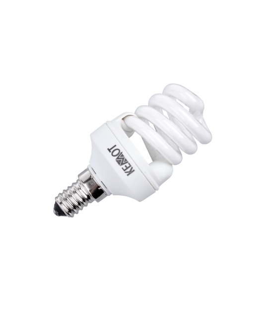 Kompaktowa lampa fluorescencyjna (Świetlówka) mini spirala, 8W, E14, 2700K