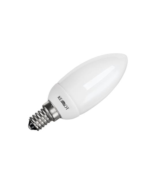 Kompaktowa lampa fluorescencyjna (świetlówka) świeca 8W, E14, 2700K