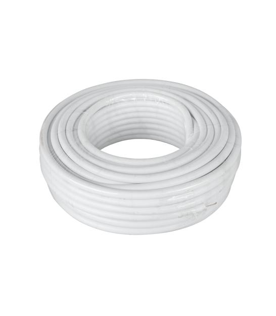 Kabel koncentryczny 3c 2v biały 20m CCS