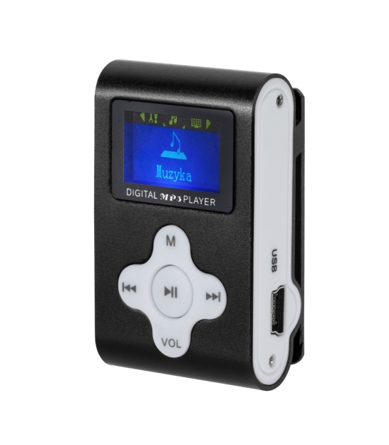 Odtwarzacz MP3 z wyświetlaczem Quer (czarny)