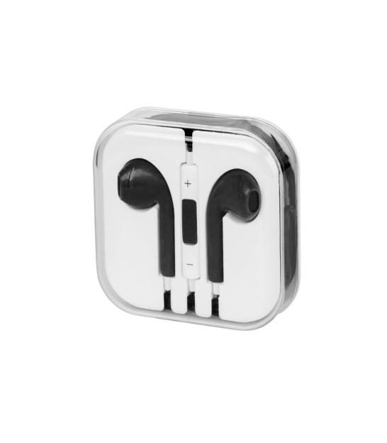 Zestaw słuchawkowy do Apple iPhone 5 / 6 / 7 czarny