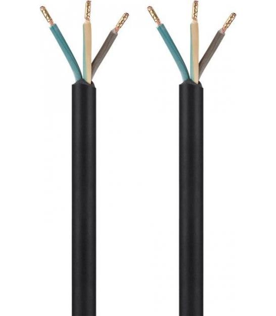 Kabel zasilający sieciowy do konfekcjonowania 1m 3x1,5mm2 czarny
