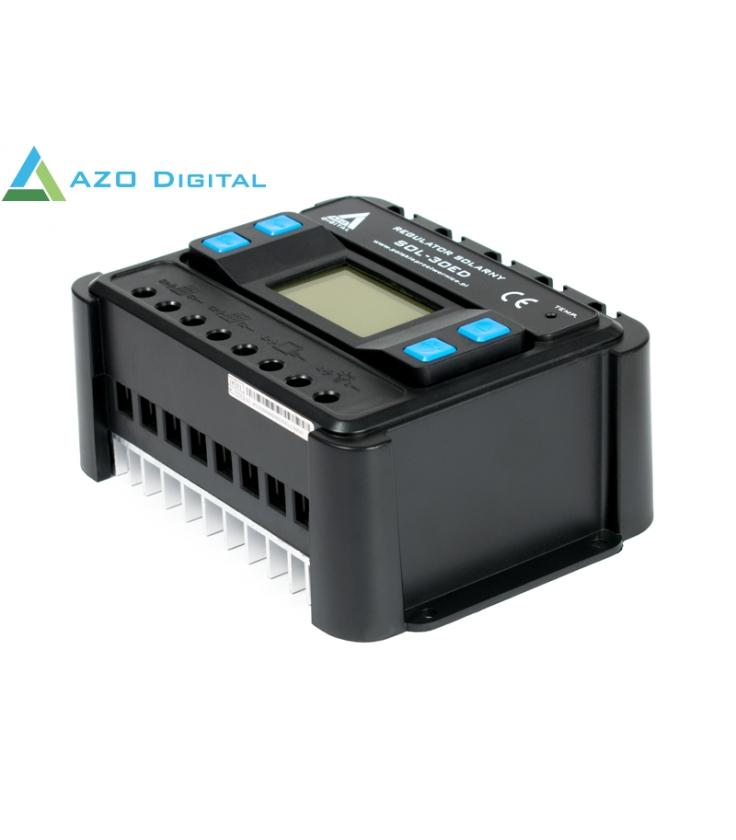 Regulator Solarny PWM SOL-30ED 12/24 - 30A (wyświetlacz LCD)