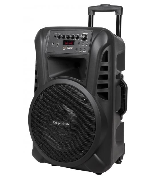 Aktywna kolumna głośnikowa (z 2 mikrofonami bezprzewodowymi UHF, SD, Bluetooth, FM, USB) 40W KM1712