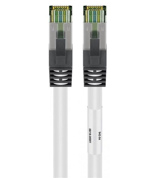 Kabel Patchcord CAT 8.1 S/FTP PIMF RJ45/RJ45 0,25m biały