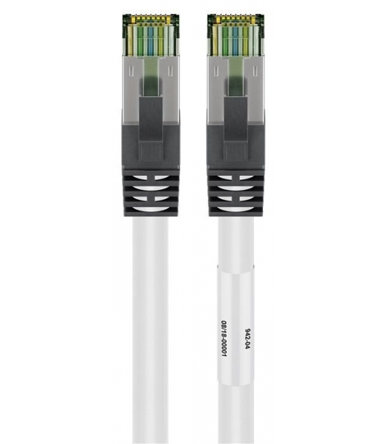 Kabel Patchcord CAT 8.1 S/FTP PIMF RJ45/RJ45 5m biały