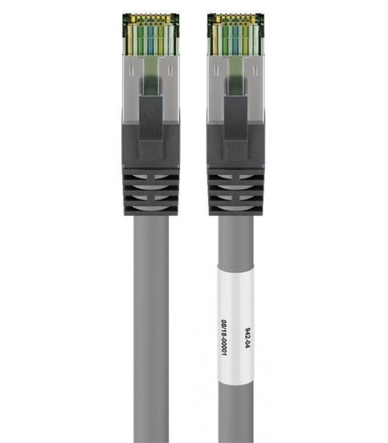 Kabel Patchcord CAT 8.1 S/FTP PIMF RJ45/RJ45 0,5m szary