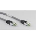 Kabel Patchcord CAT 8.1 S/FTP PIMF RJ45/RJ45 7,5m szary