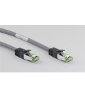 Kabel Patchcord CAT 8.1 S/FTP PIMF RJ45/RJ45 25m szary
