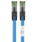 Kabel Patchcord CAT 8.1 S/FTP PIMF RJ45/RJ45 10m niebieski