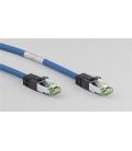 Kabel Patchcord CAT 8.1 S/FTP PIMF RJ45/RJ45 25m niebieski