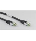 Kabel Patchcord CAT 8.1 S/FTP PIMF RJ45/RJ45 10m czarny