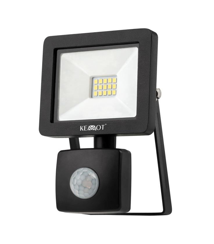 Reflektor LED 10W z sensorem zmierzchu 4000K