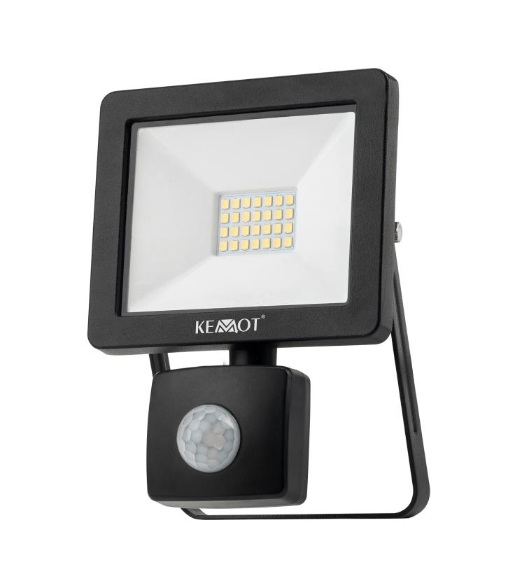 Reflektor LED 20W z sensorem zmierzchu 4000K