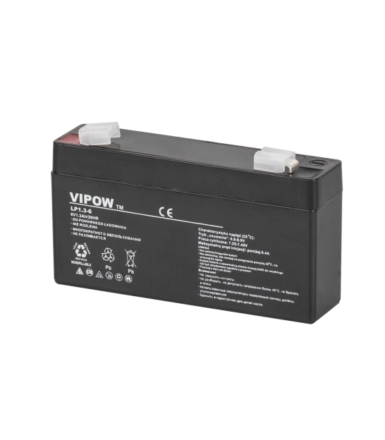 Akumulator żelowy VIPOW 6V 1.3Ah