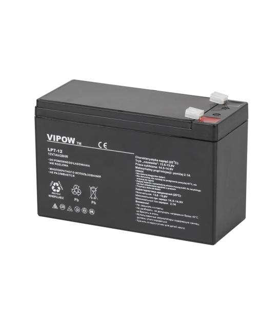 Akumulator żelowy VIPOW 12V 7Ah