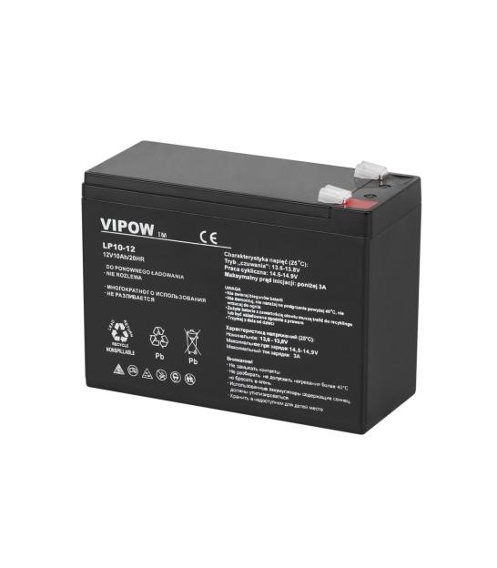 Akumulator żelowy VIPOW 12V 10Ah
