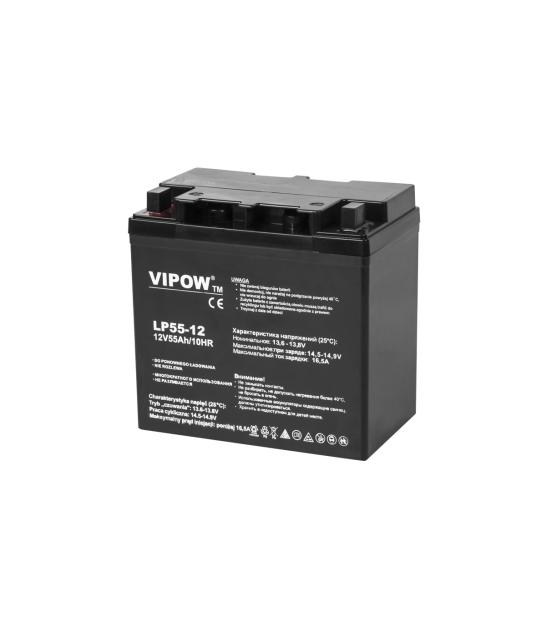 Akumulator żelowy VIPOW 12V 55Ah