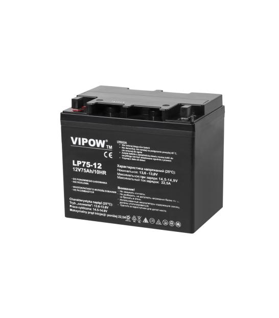 Akumulator żelowy VIPOW 12V 75Ah