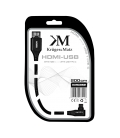Kabel HDMI - wtyk kątowy typu C 2.0m Kruger&Matz