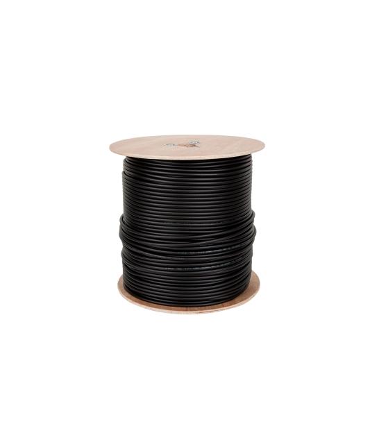 Kabel koncentryczny F690 BV+ŻEL CZARNY 305m