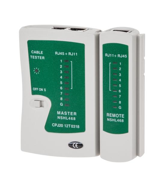 Tester kabli RJ45, RJ11, RJ12