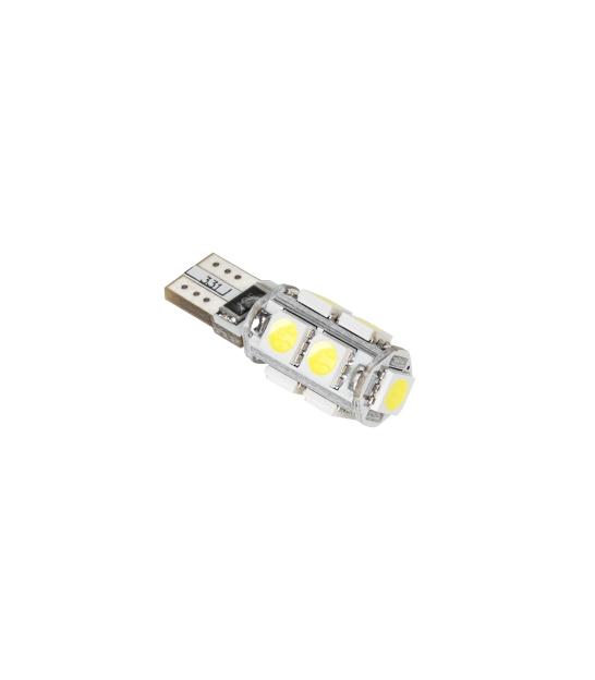 Lampa samochodowa LED T10, 9 x SMD5050, 12V, biała