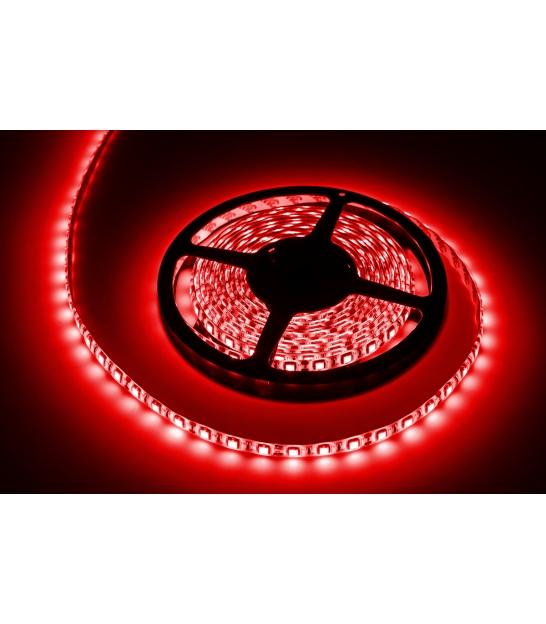 Sznur diodowy 5m, wodoodporny, czerwony (300x5050 SMD)- białe PCB