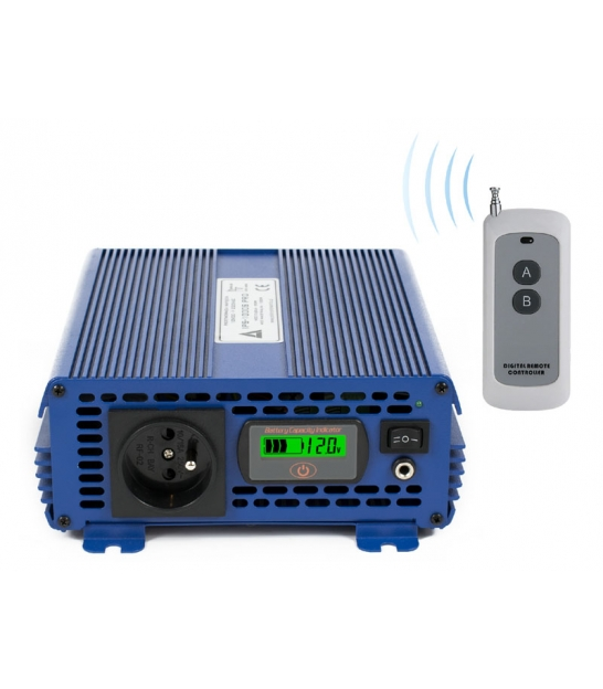 Przetwornica napięcia 12 VDC / 230 VAC ECO MODE SINUS IPS-1000S PRO 1000W
