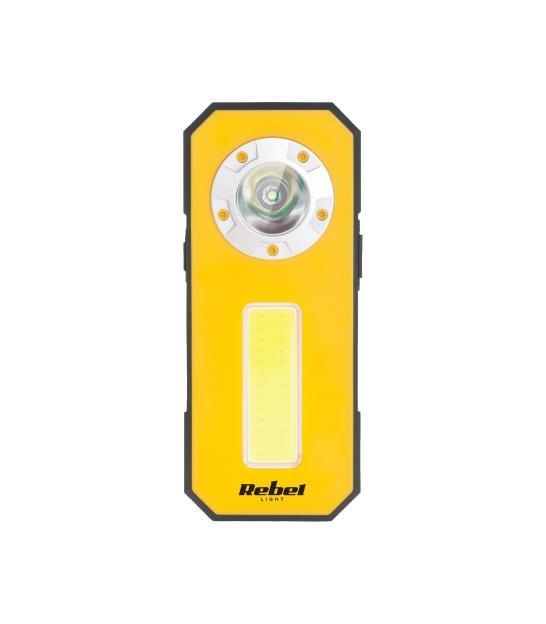 Mini akumulatorowa lampa warsztatowa (3W COB + 3W LED)